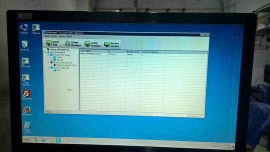 Giao diện phần mềm Gcafe Boot vừa được nâng cấp tại một phòng game ở quận 8, TP HCM Ảnh: Võ Thanh