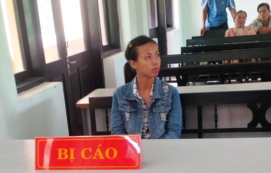 Bị cáo Lộc tại phiên tòa