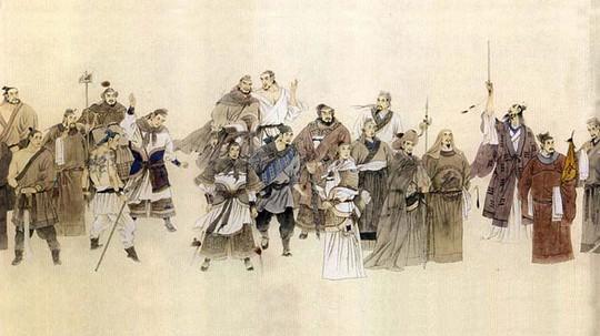 Hảo hán Lương Sơn Bạc qua tranh vẽ truyền thần