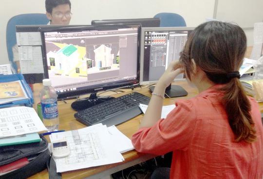 Học viên về gia công phần mềm tại Trung tâm Ươm tạo doanh nghiệp phần mềm Quang Trung