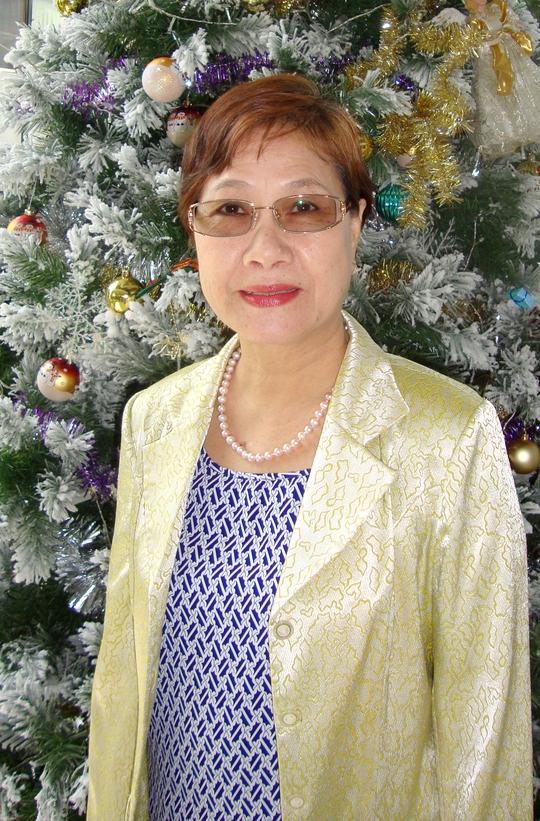 NSƯT Thanh Vy chào đón giáng sinh với nụ cười rất tươi