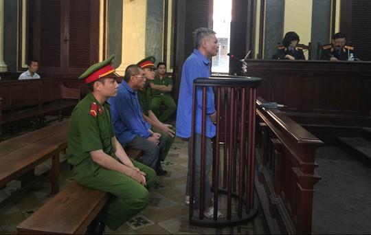 Hai bị cáo tại phiên xử sơ thẩm