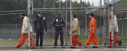 Phạm nhân tại Trung tâm cải huấn Washington Ảnh: AP