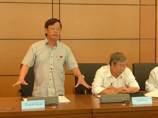 Cựu Bí thư Quảng Nam Lê Phước Thanh kiến nghị cơ chế địa phương được sử dụng tiền bán xổ số vào nhiều mục đích - Ảnh: Thế Dũng