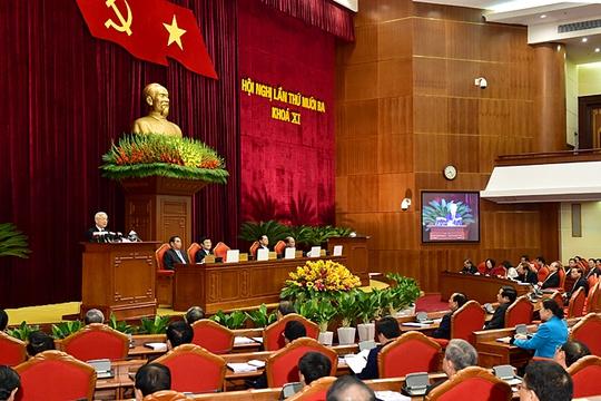 Hội nghị Trung ương lần thứ 13 khai mạc sáng 14-12 tại Hà Nội