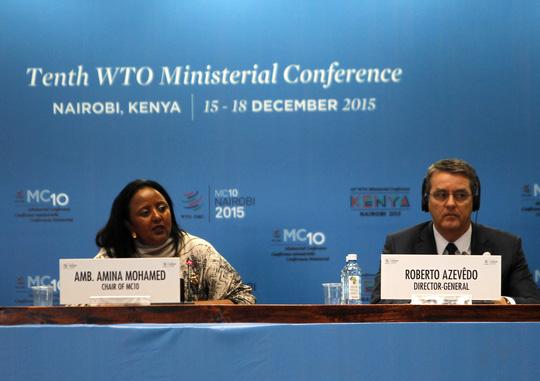 Ông Roberto Azevedo, Tổng Giám đốc WTO, tại hội nghị ở Nairobi - Kenya vào tuần rồi Ảnh: Reuters