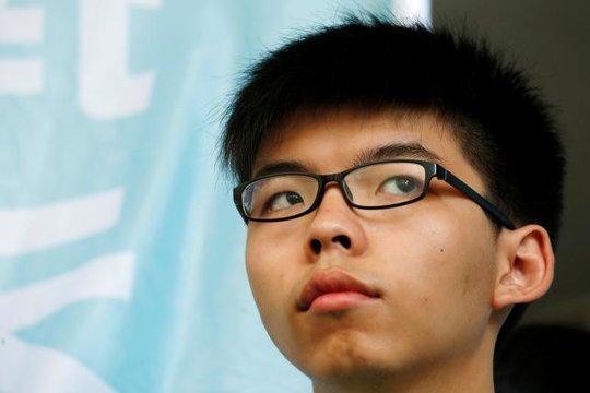 Thủ lĩnh sinh viên Hoàng Chi Phong. Ảnh: REUTERS