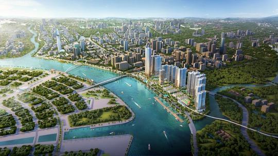 Các chủ đầu tư bất động sản TP HCM đua tranh phát triển dự án ven sông.