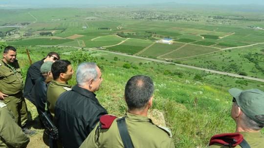 Thủ tướng Netanyahu tại Cao nguyên Golan hôm 11-4. Ảnh: GPO