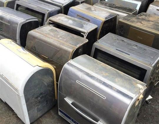 Nhiều máy lạnh, máy giặt, máy lọc không khí đã qua sử dụng.