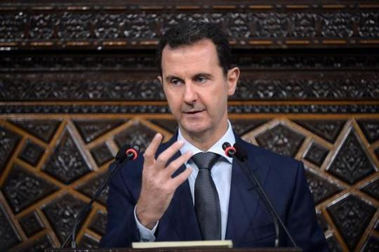 Tổng thống Assad phát biểu trước quốc hội ở Damascus ngày 7-6. Ảnh: SANA
