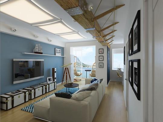 Màu sơn, trang trí của ngôi nhà đều toát lên hơi thở biển khơi.