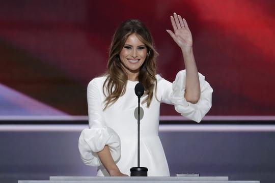 Bà Melania tại đại hội đảng Cộng hòa diễn ra vào tối 18-7. Ảnh: AP