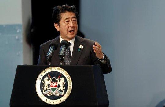 Thủ tướng Abe phát biểu tại Hội nghị TICAD ngày 27-8. Ảnh: REUTERS