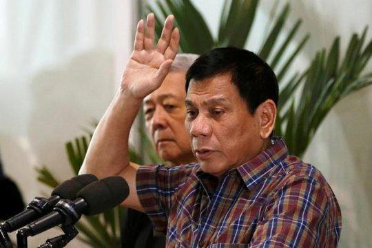 Tổng thống Philippines Rodrigo Duterte... Ảnh: REUTERS