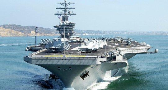 Tàu sân bay USS Nimitz của hải quân Mỹ. Ảnh: FLICKR