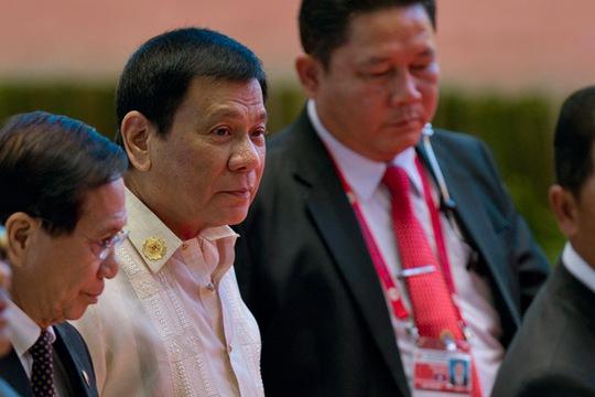 Tổng thống Duterte dự Hội nghị thượng đỉnh ASEAN hôm 8-9. Ảnh: AP