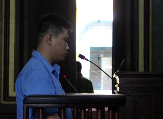 Bị cáo Trần Thanh Sang tại phiên tòa.