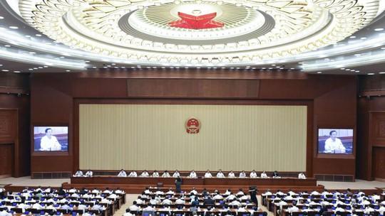 Chủ tịch NPC Zhang Dejiang chủ trì một cuộc họp tại Bắc Kinh hôm 13-9. Ảnh: SCMP