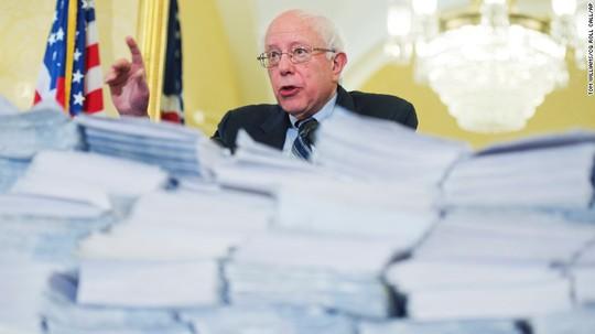 Ứng cử viên tổng thống đảng Dân chủ, Thượng nghị sỹ Bernie Sanders. Ảnh: Tom Williams