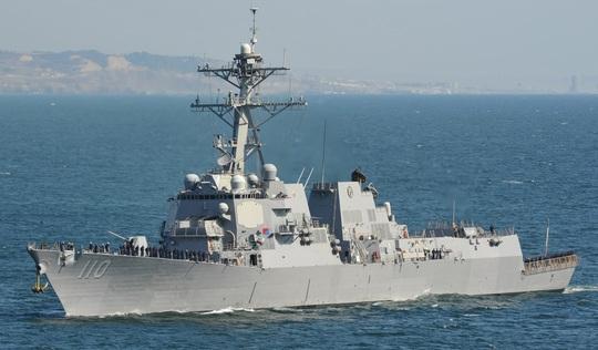 Tàu khu trục tên lửa USS William P.Lawrence của Hải quân Mỹ. Ảnh: Hải quân Mỹ