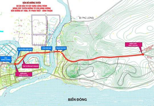 Hướng tuyến đường Nguyễn Thông sắp được nâng cấp mở rộng