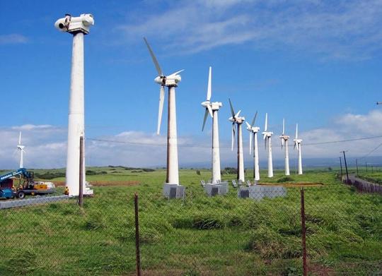 Mô hình điện gió của Nhà máy Điện gió Trung Nam