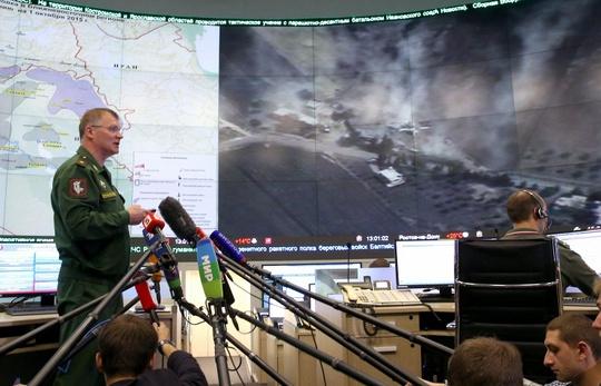 Thiếu tướng Igor Konashenkov, Phát ngôn viên Bộ Quốc phòng Nga bác bỏ cáo buộc của Thổ Nhĩ Kỳ. Ảnh: TASS