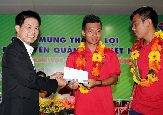 Ông Nguyễn Quốc Kỳ tại buổi đón đội tuyển quần vợt Việt Nam sau Davis Cup nhóm II khu vực châu Á Thái Bình Dương 2016
