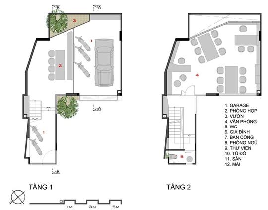 Ngôi nhà ở Sài Gòn có nhiều điểm bất lợi khi không có hình dạng vuông vắn lại có diện tích nhỏ (71 m2).