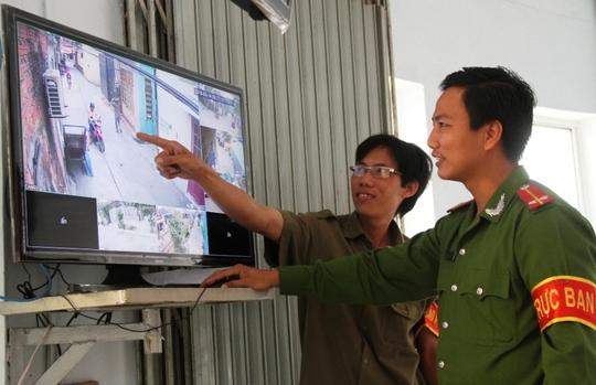 Thí điểm việc lắp đặt camera giám sát trên địa bàn phường Xuân Hà phát hy hiệu quả.