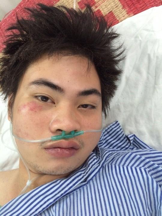 Nguyễn Thanh Phong bị thương, được điều trị tại bệnh viện