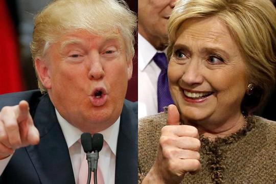 Hai ứng cử viên Hillary Clinton và Donald Trump so kè nhau trong các cuộc thăm dò gần đây Ảnh: REUTERS
