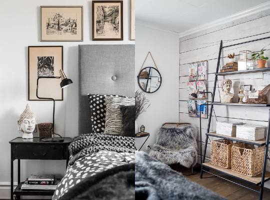 Những căn phòng ngủ áp mái có lẽ cũng chính là một điều hấp dẫn riêng của ngôi nhà.