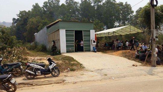 Ngôi nhà bà Phạm Thị Hồng, nơi nhóm người kéo đến gây gổ rồi bắn chết khi bà Hồng ra can ngăn