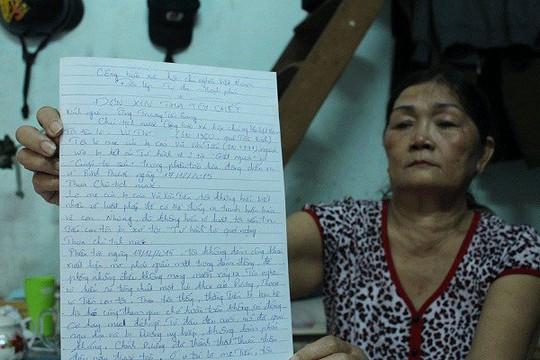 Hồi tháng 12-2015, bà Thi (mẹ Vũ Văn Tiến) từng viết đơn gửi Chủ tịch nước nhưng bị trả lại vì không hợp lệ.