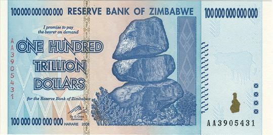 Zimbabwe bỏ đồng tiền riêng sau cuộc siêu lạm phát năm 2009. Ảnh: WIKIMEDIA