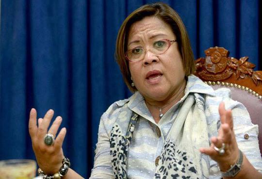 Nữ Thượng nghị sĩ Leila de Lima. Ảnh: PHILSTAR