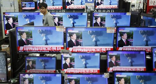 Hàn Quốc đưa tin vụ thử hạt nhân Triều Tiên sáng 9-9. Ảnh: SPUTNIK