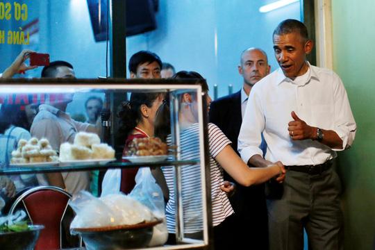 Tổng thống Obama ghé bún chả Hương Liên ăn tối trong chuyến thăm lịch sử đến Việt Nam hồi tháng 5 vừa qua.