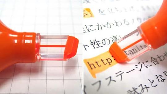 Bút dạ quang có đầu trong suốt. Dùng chiếc bút này bạn có thể biết chính xác mình những gì mình cần đánh dấu và đã đánh dấu tới đâu. Hay quá phải không?