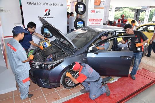 Bridgestone và ba đối tác Bosch, 3M, Idemitsu chăm sóc trọn gói cho hơn 100 xe ở TP HCM trong 3 ngày sự kiện
