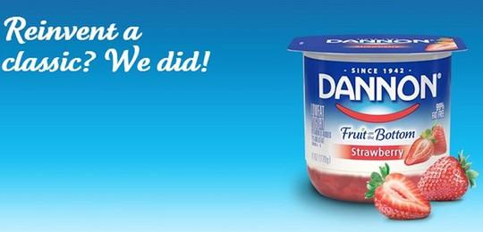 Nhãn sữa chua lâu đời Dannon xuất hiện trong tủ lạnh của nhiều gia đình Mỹ.