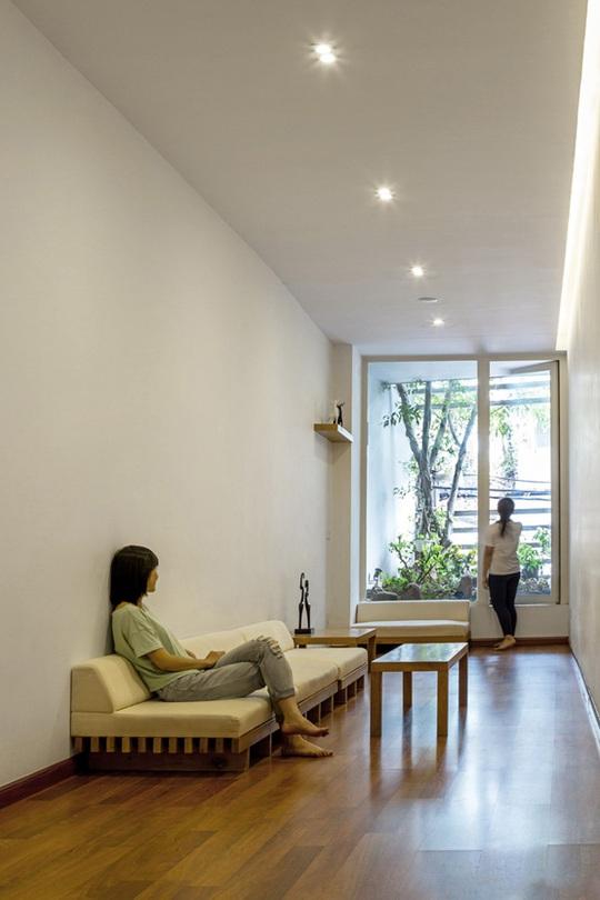 Cây xanh được thêm vào không gian một cách tinh tế.