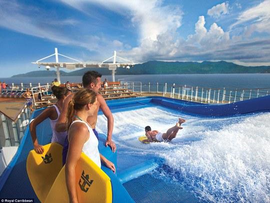 Công viên nước trên du thuyền. Ảnh: Royal Caribbean