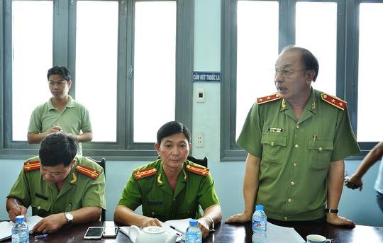 Giám đốc Công an TP HCM Lê Đông Phong tại buổi trao bằng khen