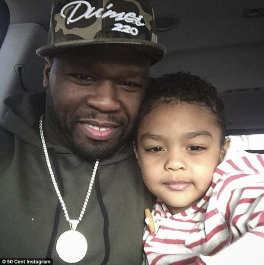 50 Cent và một con trong các con của mình