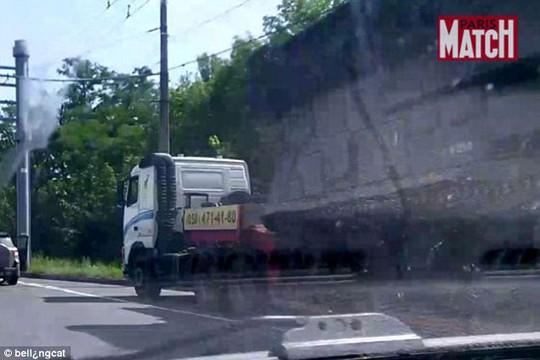 Hệ thống tên lửa Buk được vận chuyển từ Nga vào Ukraine. Ảnh: Bellingcat