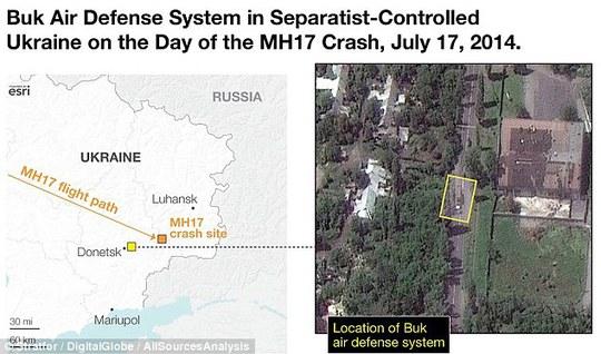 Hình ảnh vệ tinh cho thấy thống tên lửa Buk được sử dụng để bắn hạ MH17 chỉ được triển khai vài giờ trước khi thảm kịch xảy ra. Ảnh: Stratfor