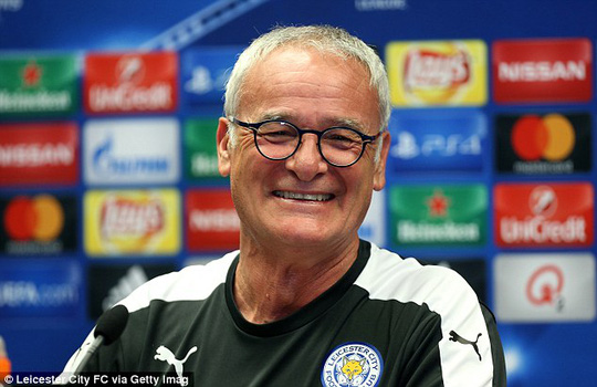 Thầy trò Ranieri háo hức ra mắt Champions League